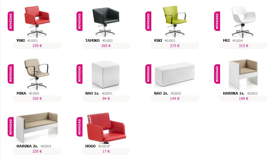 Mobiliario profesional para peluquer as y centros de for Accesorios para salon de belleza